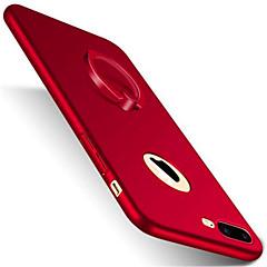 Til iPhone X iPhone 8 iPhone 8 Plus iPhone 7 iPhone 7 Plus iPhone 6 Etuier Med stativ Ringholder Syrematteret Bagcover Etui Helfarve Hårdt