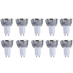 5w gu10 led spotlight 4 cob 500 lm varm hvid / kølig hvid dæmpbar ac 220-240 / ac 110-130 v 10 stk
