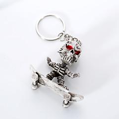 Euroopassa ja Yhdysvalloissa korkeatasoinen laatu avaimenperä luova boutique kumi rullalautailu luuranko ripustaa avaimenperään