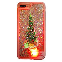 For iPhone 7 etui iPhone 7 Plus etui iPhone 6 etui Etuier Flydende væske LED Gennemsigtig Bagcover Etui Jul Blødt TPU for AppleiPhone 7