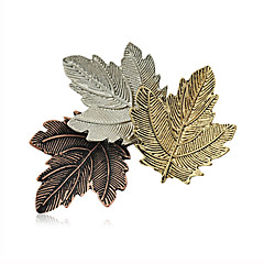 μόδα ρετρό καρφίτσες κράμα γυναικών κομψό καρφίτσα καθημερινά / περιστασιακή τρία φύλλα σχήμα κοσμήματα 1pc αξεσουάρ
