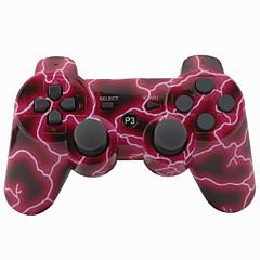 vezeték nélküli joystick bluetooth dualshock3 SIXAXIS újratölthető vezérlő gamepad Sony PS3 (piros villám)