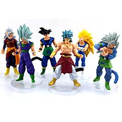 Anime Aksiyon figürleri Esinlenen Dragon Ball Goku Anime Cosplay Aksesuarları şekil Sarı PVC