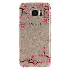Mert IMD Átlátszó Minta Case Hátlap Case Virág Puha TPU mert Samsung S7 edge S7 S3