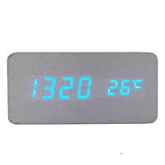 활성화 된 음성 및 터치 - raylinedo® 최신 디자인 패션 은빛 나무 푸른 빛 나무 디지털 알람 시계 - 시간 온도 날짜 표시를 주도