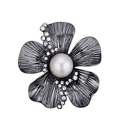Damskie Broszki Kryształ Perła Natura Perłowy Kryształ austriacki Stop Flower Shape Biżuteria Na Codzienny