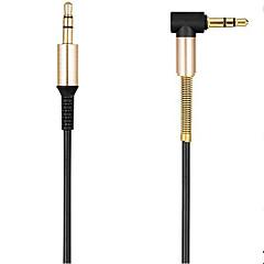 araba / PM4 PM3 / kulaklık aux kablosu için erkek 90 derece dik açı düz ses kablosu 3.5mm jak aux kablosu 3.5mm erkek