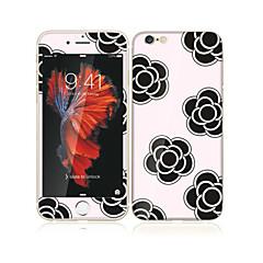 Apple iPhone 6s / 6 4.7 edzett üveg puha él teljes képernyős lefedettség első képernyő védő és hátvédő virágmintás