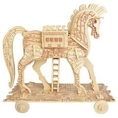 puzzle-uri Puzzle Lemn Blocuri de pereti DIY Jucarii Sferă Cai 1 Lemn Cristal Jucărie de Construit & Model