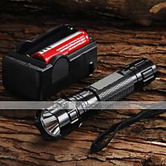 LED zseblámpák Kézi elemlámpák LED 1200 Lumen 5 Mód Cree XM-L U2 18650 Állítható fókusz Kempingezés/Túrázás/Barlangászat Mindennapokra
