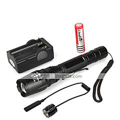 5 LED-Zaklampen Handzaklampen LED 1000 Lumens 5 Modus Cree XM-L T6 Waterbestendig voor Multifunctioneel
