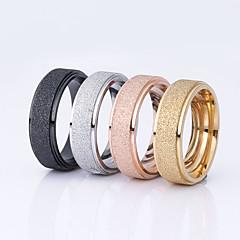 Női Páros gyűrűk Alap Rozsdamentes acél Round Shape Ékszerek Kompatibilitás Esküvő Parti Különleges alkalom Napi Hétköznapi