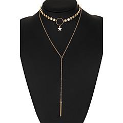 Damskie Naszyjniki choker Diament Star Shape Stop Unikalny Bikini biżuteria kostiumowa Biżuteria Na Ślub Impreza Codzienny Casual