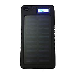 Lcd-8000 8000mah lcd 5v1a αδιάβροχη τράπεζα ισχύος με ηλιακό φορτιστή για κινητό τηλέφωνο