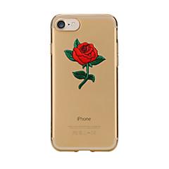Kompatibilitás iPhone X iPhone 8 tokok Átlátszó Minta Hátlap Case Virág Puha Hőre lágyuló poliuretán mert Apple iPhone X iPhone 8 Plus