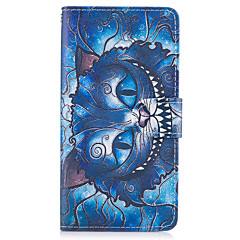 Samsung Galaxy s8 plusz s7 szélén esetben fedezi a kék macska mintás műbőr tokok s6 szélén plusz s5 mini s4 s3