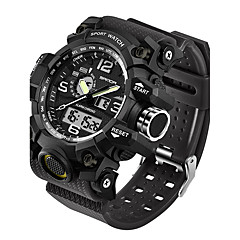 SANDA Herrn Sportuhr Militäruhr Smart Uhr Modeuhr Armbanduhr Japanisch digital LED Duale Zeitzonen Fitness Tracker Nachts leuchtend