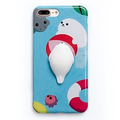 Til Etuier Mønster GDS squishy Bagcover Etui Tegneserie Blødt TPU for Apple iPhone 7 Plus iPhone 7 iPhone 6 Plus iPhone 6s iPhone 6