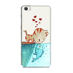 Til xiaomi mi 5 tilfælde cover mønster bag cover katte hjerte blød silikone