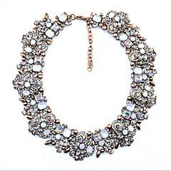 Dames Kraag Aquamarijn Robijn Multi-steen Kristal Kubieke Zirkonia imitatie Diamond Cirkelvorm Ronde vorm Kristal Basisontwerp Vintage