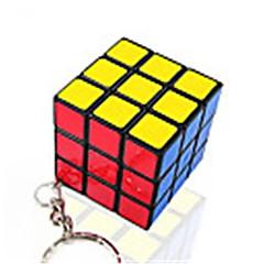 Rubik küp Pürüzsüz Hız Küp Düz Yapışkan Sihirli Küpler Anahtarlık Plastikler