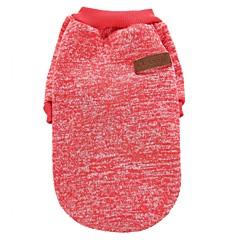 Kat Hond Jassen T-shirt Sweatshirt Hondenkleding Feest Casual/Dagelijks Houd Warm Sport Effen Koffie Rood Groen Blauw Roze