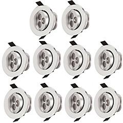 10pcs 3w ledesített mennyezeti világítás 300lm meleg / hűvös fehér ledesített lámpa beltéri világításhoz ac85-265v
