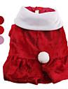 Chien Manteaux Rouge / Incanardin Vetements pour Chien Hiver Couleur Pleine Mignon / Noel