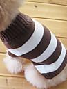 Gatos / Caes Sueters Marrom Roupas para Caes Inverno Riscas Da Moda / Mantenha Quente
