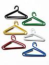 Cabides de plástico Pattern Paper Clips Envolvido (10pcs cores aleatórias)