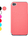 Lichee Pattern Leather Protective Hard Case for iPhone 4/4S(Assorted Colors)