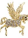 broche de diamantes cavalo alado das mulheres