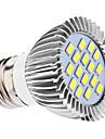 E26/E27 Spot LED MR16 16 SMD 5630 450 lm Blanc Naturel AC 110-130 AC 100-240 V