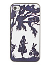 Hallowmas's Night Pattern PC Hard Case with Black Frame for iPhone 4/4S