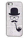 Tobacco Pipe Pattern PC Hard Case with Black Frame for iPhone 5/5S