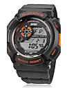 SKMEI Masculino Relógio Esportivo Relogio digital Quartzo Digital Quartzo Japonês LCD Calendário Cronógrafo Impermeável Banda Preta
