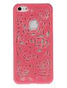 아이폰 5C에 대한 스타일 꽃 디자인 단단한 케이스 (분류 된 색깔)를 밖으로 속을 비게
