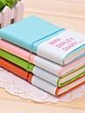 μίνι σχήμα προσώπου χαμόγελο pu δέρμα notabook (μεγάλο)