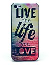 Live and Life of Pattern Mar Hard Case para iPhone 5C