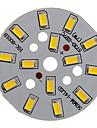 7W 600-650LM 온난 한 백색 빛 5730SMD 통합 LED 모듈 (21-24V)