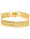 Homme Charmes pour Bracelets bijoux de fantaisie Plaque or 18K or Bijoux Pour Mariage Soiree Quotidien Decontracte Regalos de Navidad