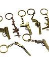 빈티지 권총 청동 합금 키 체인 (1 개)