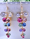 Earring Drop Earrings Jewelry Women Wedding / Party / Daily / Casual / Sports Alloy / Rhinestone / Gold Plated