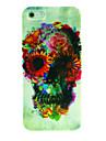 Dure de cas modèle de fleur de crâne pour l'iPhone 4/4S