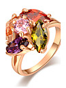 Roxi Fashion Genuine Austrian Crystal Delicate Ms Dinner Gold Plated Rings(1 Pc)