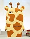 girafa silicone caso de volta para o iPhone 5 / 5s (cores sortidas)