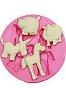 퐁당 사탕 공예 보석 PMC 수지 점토 동물 모양 금형 양 돼지 당나귀 말을 꾸미는 케이크 실리콘 몰드