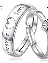 Anéis de Casal ( Prata de Lei ) - Casamento/Pesta/Diário/Casual