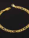 U7® High Quality 18K Gold Filled Figaro Chain Bracelet For Men or Women 4MM 19.5CM Jewelry Christmas Gifts