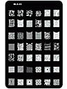 ногтей тиснения / штампа изображения шаблон пластины ногтей трафареты / формы для акриловых ногтей советы мл серия № 3